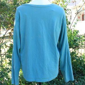 Mossimo Supply Co. Tops - Long Sleeve Teal T Shirt Mossimo 2X